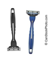 Mens Grooming - Mens grooming items isolated against a white...