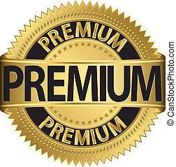 Grunge premium guarantee , vector - Grunge premium guarantee...