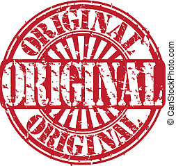 Grunge original rubber stamp, vecto