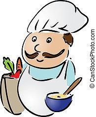 chef, cibo