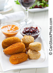 Cheese sticks with chutney - Cheese sticks - mozzarella and...