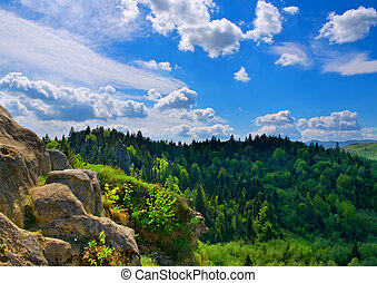 paesaggio, montagna, composizione, natura