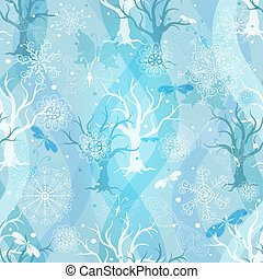 Winter repeating blue pattern - Winter repeating pattern...