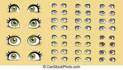 Beautiful women eyes
