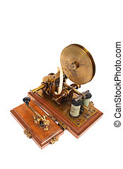 telegraph - very old telegraph on the white background