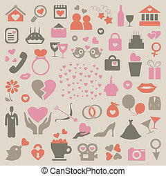 Collection love - Set on a love theme A vector illustration
