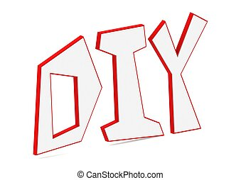 Do It Yourself abbreviation - Rendered artwork with white...