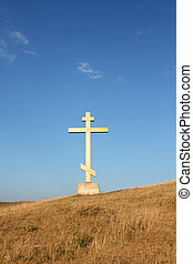 religion cross on the hill