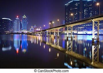 Macau - MACAU - OCTOBER 12: Skyline of Macau at Nam Van...