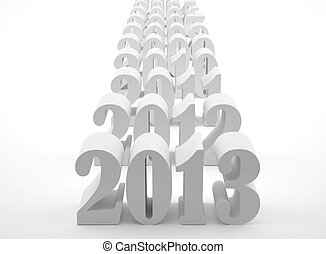 New 2013 year card High resolution image 3d rendered...