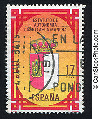 Castilla - SPAIN - CIRCA 1984: stamp printed by Spain, shows...