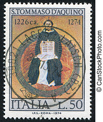 Saint Thomas Aquinas by Francesco Traini - ITALY - CIRCA...