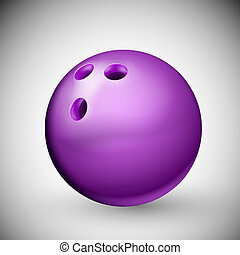 Bowling Ball - Isolated purple bowling ball. Eps 10