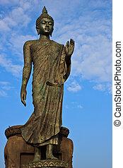 Principle Buddha in Buddhamonthon - Huge principle Buddha in...