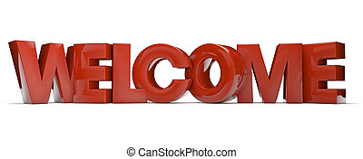 welcome - render of the text welcome