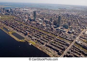 Boston Back Bay aerial - Bostons Back Bay area and downtown...