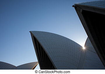 Sydney Opera House detail view - The shells of the Sydney...