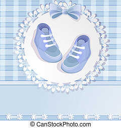 Baby shower blue card