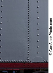 metal rivets - Image of metal rivets