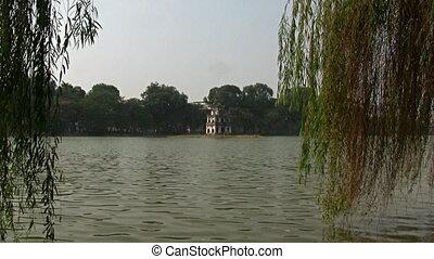 Hoan Kiem lake Hanoi - 24 december 2011: Hanoi, Vietnam....