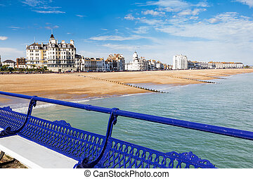 Eastbourne East Sussex - Eastbourne beach and seafront as...