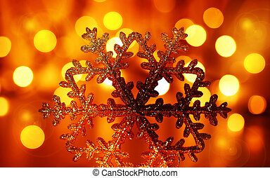 Golden snowflake Christmas tree ornament