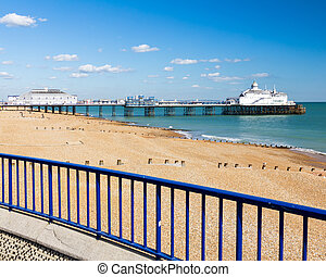 Eastbourne East Sussex - The seafront and Pier at Eastbourne...