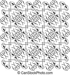 Monochrome seamless vector texture with abstract pattern
