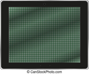 Realistic tablet pc computer isolated on white background