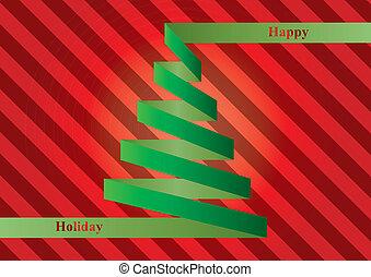 xmas tree ribbon