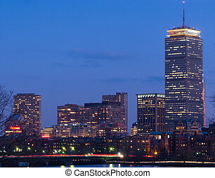 Back Bay and Charles River Dusk - Bostons Back Bay skyline...