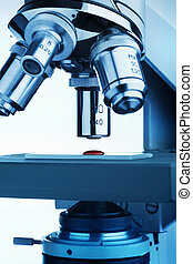 Microscope research closeup