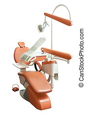 Dental chair in the office - Dental chair in isolated...
