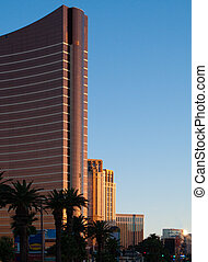 Buildings on the Las Vegas Strip in the afternoon