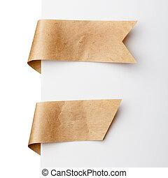 Paper bookmark ribbons