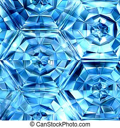 Icy honeycomb - Blue ice, patterns, texture suits for...