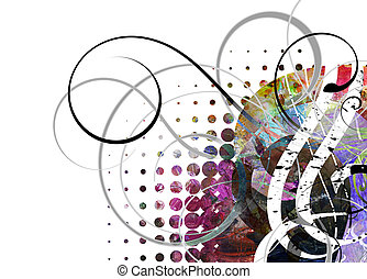 mixed media grunge - abstract background - mixed media...
