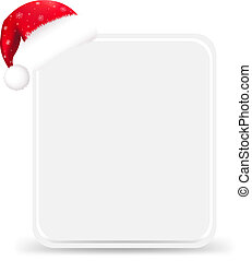 Santa Hat With Blank Gift Tag, Isolated On White Background,...