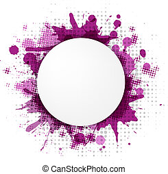 Abstract Violet Bubble With Blobs, Vector Illustration
