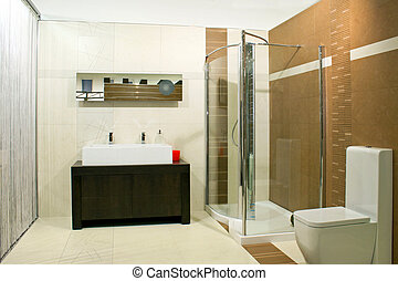 Classics shower - Classics bathroom with glass shower and...