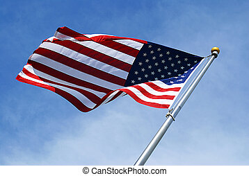 Stars & Stripes - American flag taken at a creative angle...