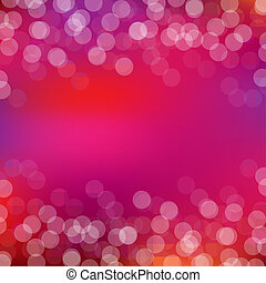Pink Card With Bokeh And Blur, Vector Illustration