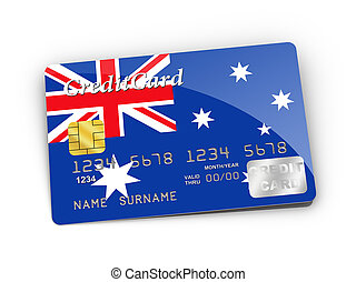 Credit Card covered with Australia flag.