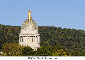 West Virginia State Capital Dome - The golden West Virginia...
