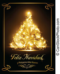 Christmas card, tarjeta navide?a - Warmly sparkling...