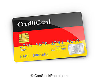Credit Card covered with German flag.