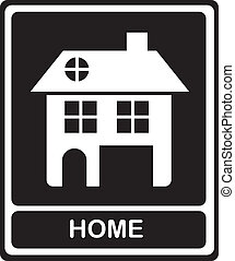 home icons - Illustration of home icons, house silhouettes...