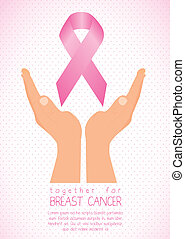 breast cancer - Illustration of breast cancer, awareness...