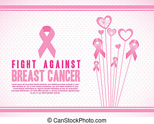 breast cancer - Illustration of breast cancer, fighting...