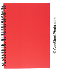 Spiral Bound Notepad with Red Cover - Red Covered Spiral...